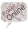 online poker games 1 text background wordcloud vector image vector image