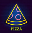 pizza logo flat style vector image