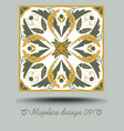 portuguese azulejo traditional ceramic tile in vector image vector image
