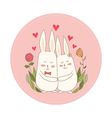 Rabbits in Love vector image vector image
