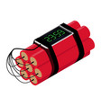 realistic detailed isometric red detonate vector image vector image