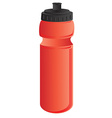 Red sports water bottle vector image vector image