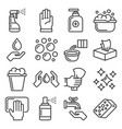sanitation ans clean icons set on white background vector image vector image