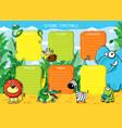 school timetable animals africa vector image