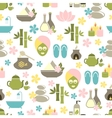 Seamless pattern from Spa of elements vector image