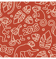 seamless pattern with monkeys symbol 2016 vector image