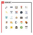 set 25 commercial flat colors pack for process vector image vector image
