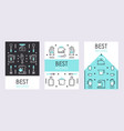 set banners with line icons kitchen supplies vector image vector image