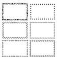 set of modern frames vector image