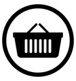 shopping bag supermarket for hand icon vector image vector image