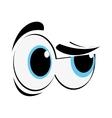 side eye cartoon eyes icon vector image vector image