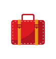simple red baggage vector image vector image