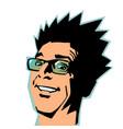smiling man joyful emotions vector image vector image