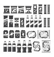 snack product set for vending machine in vector image vector image
