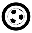 soccer ball icon black color in circle vector image vector image
