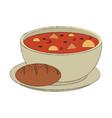 soup delicious food vector image vector image