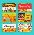 thanksgiving label set vector image