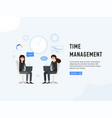 time management web page poster vector image vector image