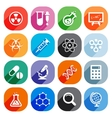 Trendy Flat science icons elements vector image vector image