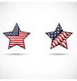 united states flag glossy star symbol vector image vector image