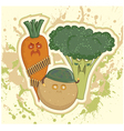 vegetable bandits vector image vector image