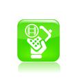 video phone icon vector image