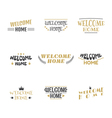Welcome home Set of 9 labels stickers emblems or vector image vector image