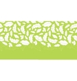 White on green leaves silhouettes horizontal vector image vector image