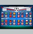 badges national flag vector image