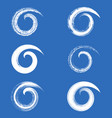 brush strokes spirals vector image