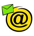 e-mail sign icon icon cartoon vector image