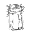 Hand drawn glass jar vector image