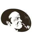 pipe smoker vector image
