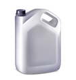 Plastic canister on white background vector image