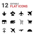 12 commercial icons vector image vector image