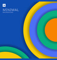 abstract modern colorful circles overlapping vector image vector image