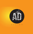 ad a d logo made of small letters with black vector image vector image