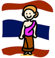 Asia people Thai Woman vector image vector image