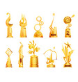 awards and trophy cups triumph sport awards and vector image