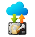 Backup data from HDD in the cloud vector image vector image