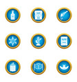 bailiff icons set flat style vector image vector image