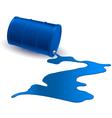Barrel with blue liquid vector image vector image