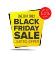 black friday sale banner sale background vector image