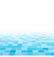 blue random square mosaic or tiles background vector image vector image