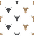 bull head triangle pattern backgrounds vector image