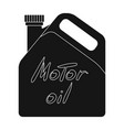 can of engine oilcar single icon in black style vector image vector image