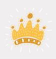 childlike drawing crown vector image