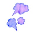 cloud colorful watercolor conversations for vector image vector image
