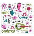 country music vector image vector image