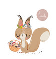 cute summer squirrel vector image vector image